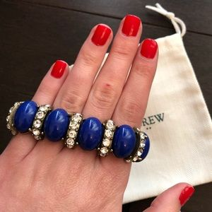 JCrew Blue Stone and Gem Bracelet